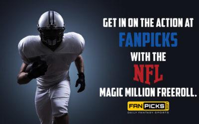 Daily Fantasy Football Freeroll Alert: SpookyExpress.com Magic Million at FanPicks