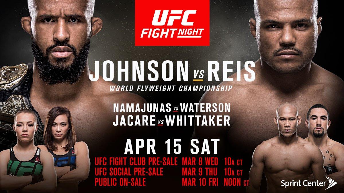 UFC on Fox 24 - Johnson vs. Reis