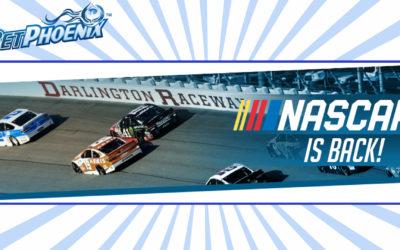 Bet on the NASCAR at Darlington at BetPhoenix and get 150% FREE PLAY BONUS!