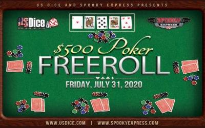 US Dice & Spooky Express present $500 Poker Freeroll!!!