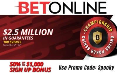 $2.5 Million Poker Tournament Series at BetOnline
