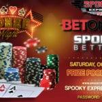 Spooky Express's BetOnline and Sportsbetting October Freeroll – $500 GTD – Saturday, October 10, 2020