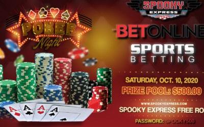Spooky Express's Sportsbetting and BetOnline October Freeroll – $500 GTD – Saturday, October 10, 2020