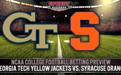 NCAA College Football Betting Preview:  Georgia Tech Yellow Jackets vs. Syracuse Orange – Saturday, Sept. 26, 2020