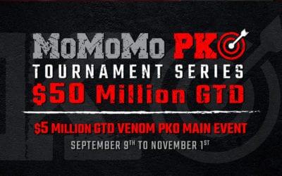 MOMOMO PKO comes to an early close — but $5 Million Venom PKO tourney and $1 Million GTD Sunday tourneys remain