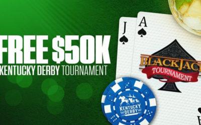 Free $50,000 Kentucky Derby Blackjack Tournament