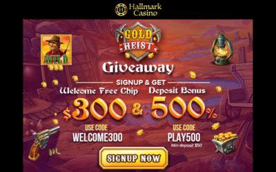 Gold Heist $300 Slots Giveaway on Hallmark Casino