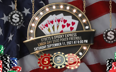 GTBets & Spooky Express Labor Day $500 Poker Freeroll – Saturday, September 11, 2021