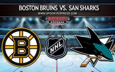NHL Betting Preview: Boston Bruins vs. San Jose Sharks – Sunday, October 24, 2021